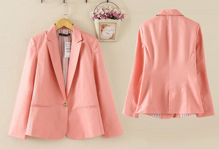 Mooie dames blazer verkrijgbaar in 8 kleuren, nu voor slechts €14,95!   Roze