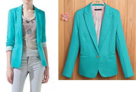 Mooie dames blazer verkrijgbaar in 8 kleuren, nu voor slechts €14,95!   Turquoise blauw