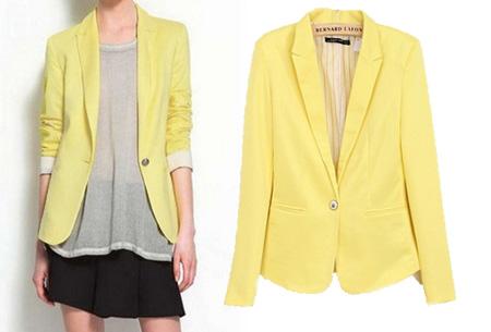 Mooie dames blazer verkrijgbaar in 8 kleuren, nu voor slechts €14,95!   Geel
