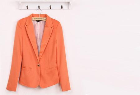 Mooie dames blazer verkrijgbaar in 8 kleuren, nu voor slechts €14,95!   Oranje