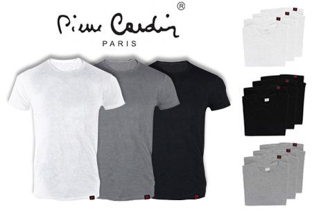 Pierre Cardin heren t-shirts 3-pack of 9-pack al vanaf €12,95 | Topkwaliteit voor een spotprijs!