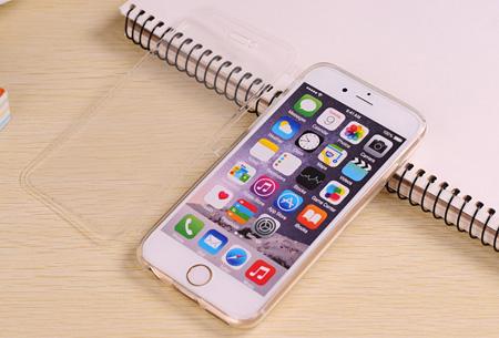 Flexibele smartphone covercase | Voor diverse iPhone en Samsung smartphones wit