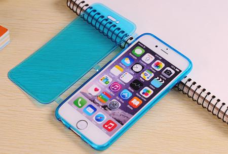 Flexibele smartphone covercase | Voor diverse iPhone en Samsung smartphones blauw