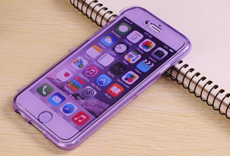 Flexibele smartphone covercase Paars - iPhone 6 Plus/6S Plus