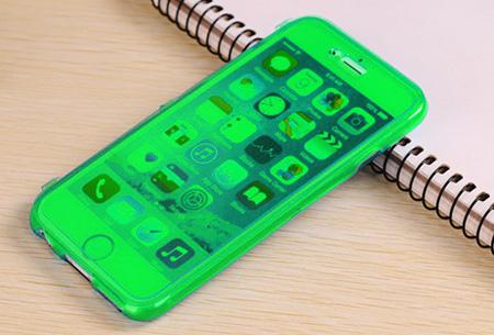 Flexibele smartphone covercase | Voor diverse iPhone en Samsung smartphones groen