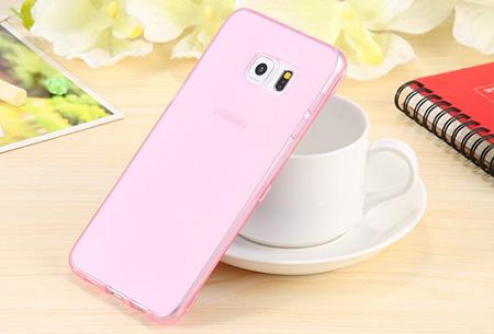 Flexibele smartphone covercase | Voor diverse iPhone en Samsung smartphones roze