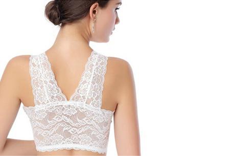 Kanten Lace BH nu slechts | Uiterst comfortabel, stijlvol en sexy! wit