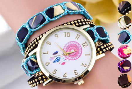 Dromenvanger armbandhorloge nu slechts €6,95! Hippe en vrolijke eyecatcher met een bohemian touch