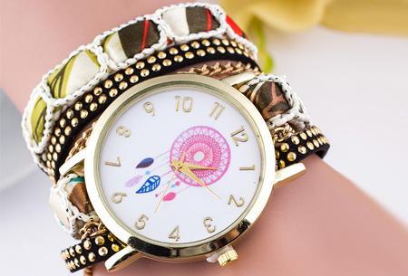 Dromenvanger armbandhorloge nu slechts €6,95! Hippe en vrolijke eyecatcher met een bohemian touch wit
