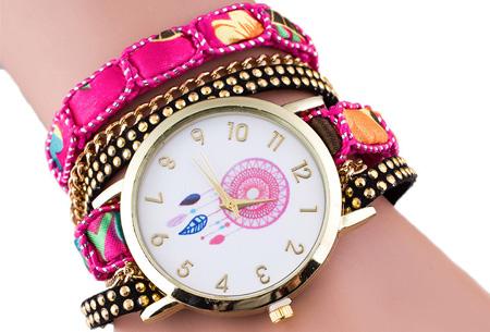 Dromenvanger armbandhorloge nu slechts €6,95! Hippe en vrolijke eyecatcher met een bohemian touch roze