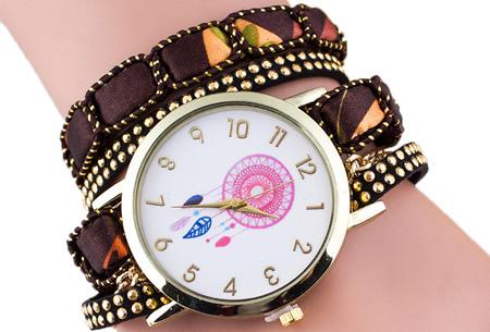 Dromenvanger armbandhorloge nu slechts €6,95! Hippe en vrolijke eyecatcher met een bohemian touch bruin