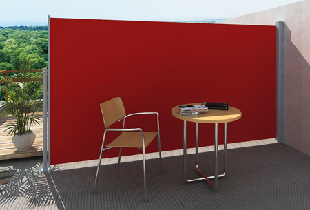 Uitschuifbaar wind- en zonnescherm 160 of 180 x 300 cm nu al vanaf €79,95 | Ideaal voor tuin of balkon! rood