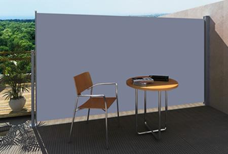 Uitschuifbaar wind- en zonnescherm 160 of 180 x 300 cm nu al vanaf €79,95 | Ideaal voor tuin of balkon! grijs