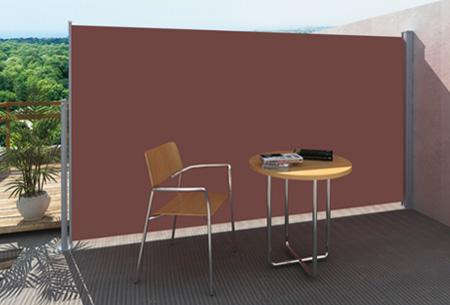 Uitschuifbaar wind- en zonnescherm 160 of 180 x 300 cm nu al vanaf €79,95 | Ideaal voor tuin of balkon! bruin