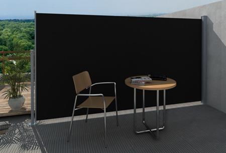 Uitschuifbaar wind- en zonnescherm 160 of 180 x 300 cm nu al vanaf €79,95 | Ideaal voor tuin of balkon! zwart