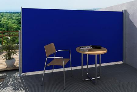 Uitschuifbaar wind- en zonnescherm 160 of 180 x 300 cm nu al vanaf €79,95 | Ideaal voor tuin of balkon! blauw