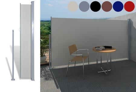 Uitschuifbaar wind- en zonnescherm 160 of 180 x 300 cm nu al vanaf €79,95 | Ideaal voor tuin of balkon!
