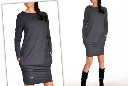 Sweater dress nu slechts €13,95 | Comfortabel en helemaal on trend! Antraciet