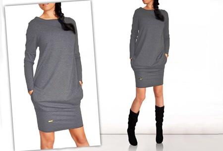 Sweater dress nu slechts €13,95 | Comfortabel en helemaal on trend! Donkergrijs