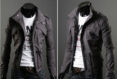Heren zomerjas nu slechts €29,95 | Voor een stijlvolle en stoere look. Grijs