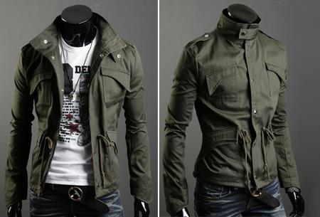 Heren zomerjas nu slechts €29,95 | Voor een stijlvolle en stoere look. Legergroen