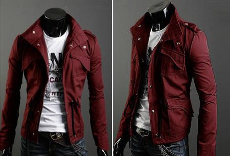 Heren zomerjas nu slechts €29,95 | Voor een stijlvolle en stoere look. Wijnrood