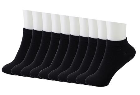Sneakersokken in het wit of zwart - 10 of 20 paar nu al vanaf €6,95 | Geschikt voor dames en heren Zwart