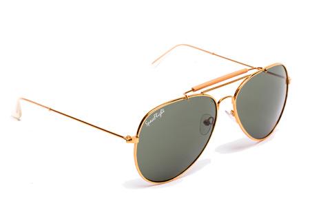 Spaceflight Design zonnebril | Inclusief beschermhoesje en microvezel schoonmaakdoekje Goud/Groen
