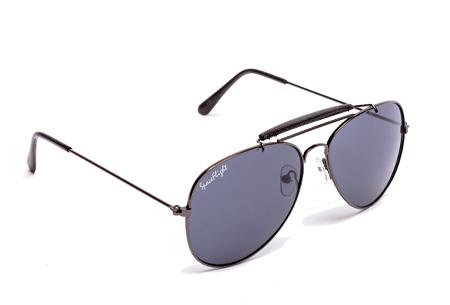 Spaceflight Design zonnebril | Inclusief beschermhoesje en microvezel schoonmaakdoekje Zwart/Grijs