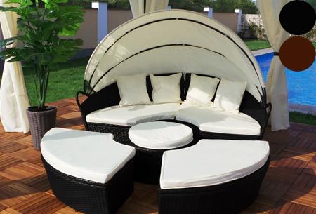 Luxe lounge tuinset t.w.v. €1099,- nu voor slechts €449,- | Heerlijk relaxen in je tuin!