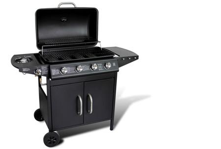 Luxe gasbarbecue & grill nu al vanaf €239,00 | Barbecueën op z'n Amerikaans! model 1 - zwart