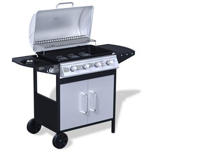 Luxe gasbarbecue & grill nu al vanaf €239,00 | Barbecueën op z'n Amerikaans! model 1 - zwart/grijs