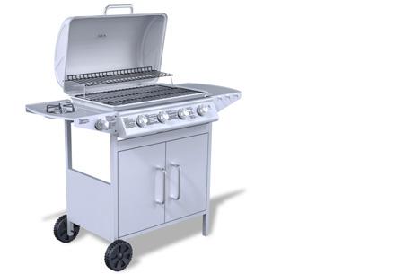 Luxe gasbarbecue & grill nu al vanaf €239,00 | Barbecueën op z'n Amerikaans! model 1 - grijs
