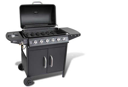 Luxe gasbarbecue & grill nu al vanaf €239,00 | Barbecueën op z'n Amerikaans! model 2 - zwart