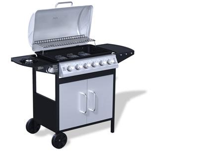 Luxe gasbarbecue & grill nu al vanaf €239,00 | Barbecueën op z'n Amerikaans! model 2 - zwart/grijs
