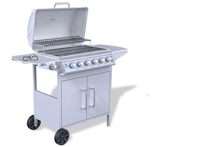 Luxe gasbarbecue & grill nu al vanaf €239,00 | Barbecueën op z'n Amerikaans! model 2 - grijs