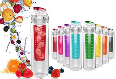 Waterfles met fruit filter en drinktuit nu slechts €7,95 | Maakt je water een stuk lekkerder!
