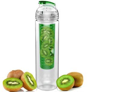 Waterfles met fruit filter en drinktuit nu slechts €7,95 | Maakt je water een stuk lekkerder! Groen