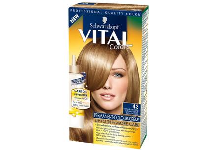 Schwarzkopf Vital Colors haarverf 3 of 6 pakken nu al vanaf €10,95 | Keuze uit 15 kleuren 43 Natuurlijk Blond