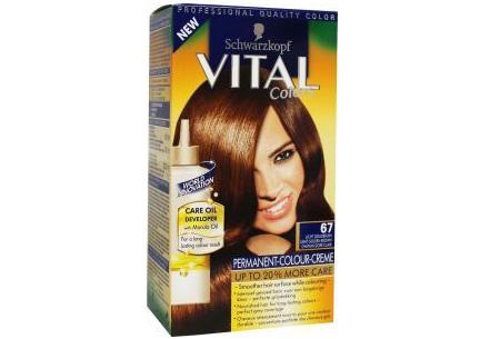 Schwarzkopf Vital Colors haarverf 3 of 6 pakken nu al vanaf €10,95 | Keuze uit 15 kleuren 67 Licht Goudbruin