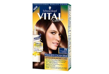 Schwarzkopf Vital Colors haarverf 3 of 6 pakken nu al vanaf €10,95 | Keuze uit 15 kleuren 75 Edelkastanje