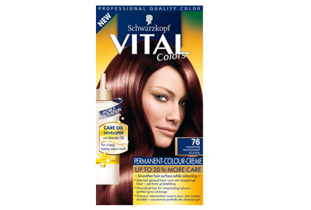 Schwarzkopf Vital Colors haarverf 3 of 6 pakken nu al vanaf €10,95 | Keuze uit 15 kleuren 76 Mahonie