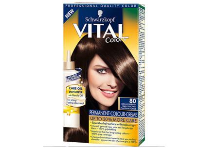 Schwarzkopf Vital Colors haarverf 3 of 6 pakken nu al vanaf €10,95 | Keuze uit 15 kleuren 80 Donkerbruin