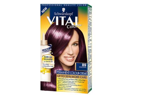 Schwarzkopf Vital Colors haarverf 3 of 6 pakken nu al vanaf €10,95 | Keuze uit 15 kleuren 89 Aubergine