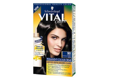 Schwarzkopf Vital Colors haarverf 3 of 6 pakken nu al vanaf €10,95 | Keuze uit 15 kleuren 90 Zwart