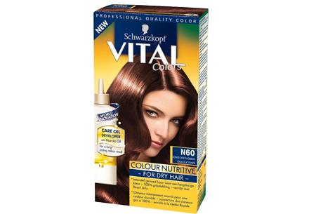 Schwarzkopf Vital Colors haarverf 3 of 6 pakken nu al vanaf €10,95 | Keuze uit 15 kleuren N60 Donker Chocoladebruin
