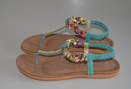 Boho Ibiza slippers | Voor een bohemian zomerlook! mintgroen