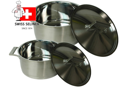 6-delige Selinex pannenset  Horeca kwaliteit