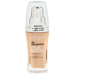 L'Oréal True Match / Perfect Match foundation nu slechts €7,95 | Voor een prachtige egale huid! C4/R4