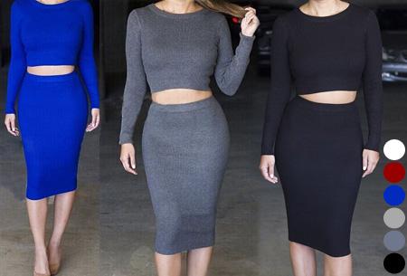 Two piece: rok en top nu voor maar €19,95 | Tweedelige kledingset met korting!
